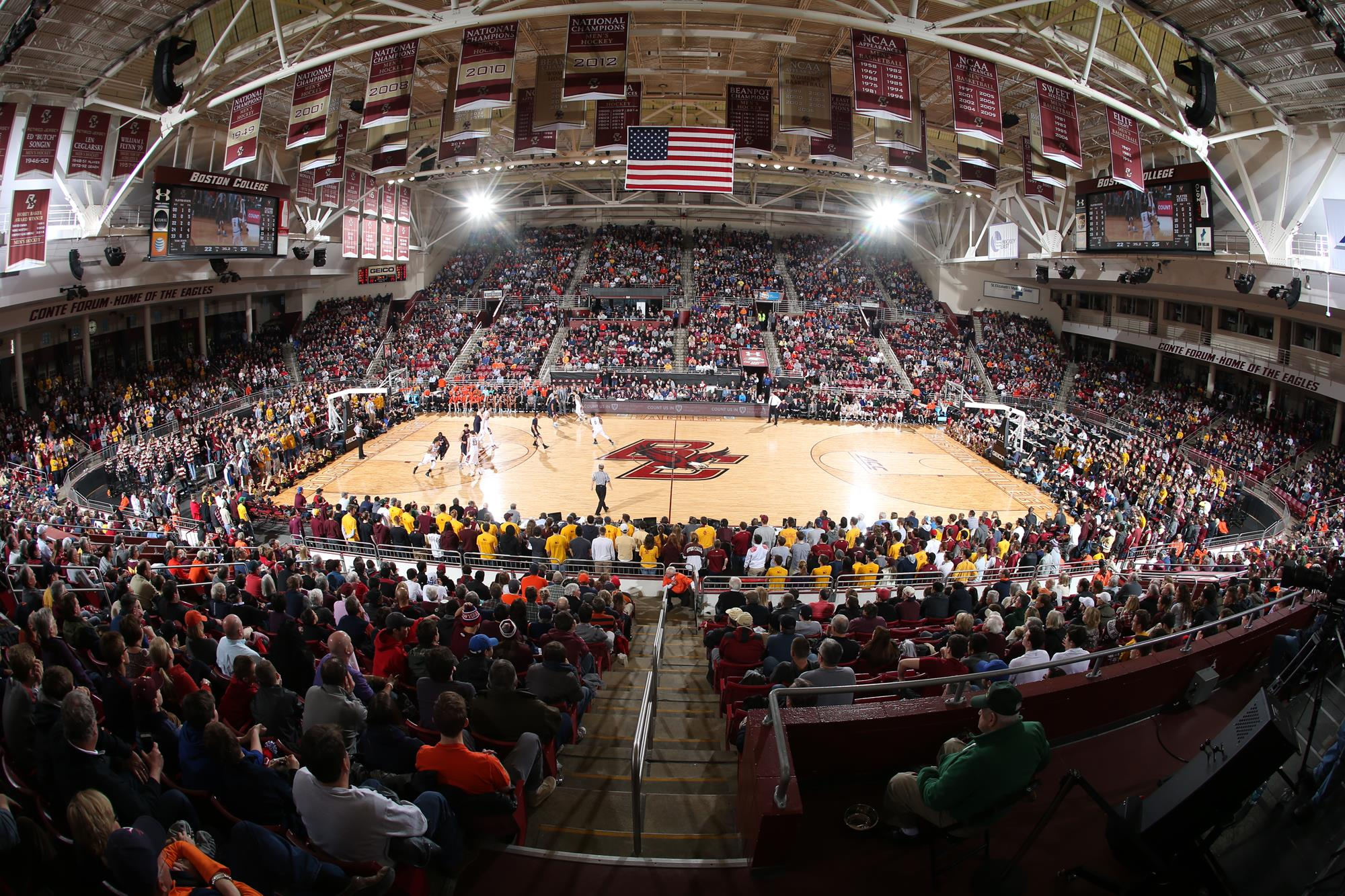 Conte Forum also houses the 950 seat Power Gymnaisum Power Gymnasium is the main venue for BC Volleyball but it s also used as an auxiliary basketball
