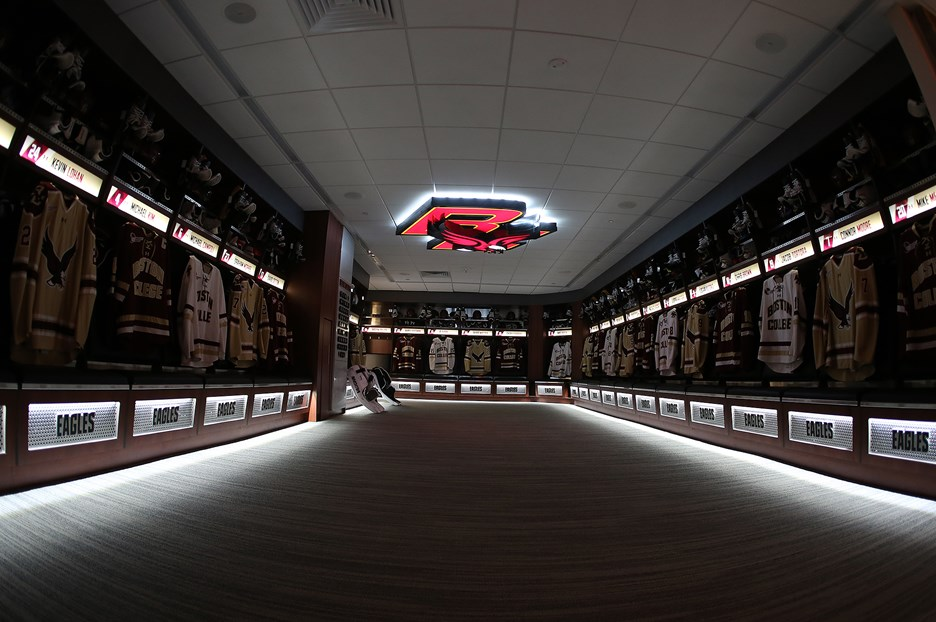State-of-the-Art Hockey Locker Rooms Unveiled - Boston College
