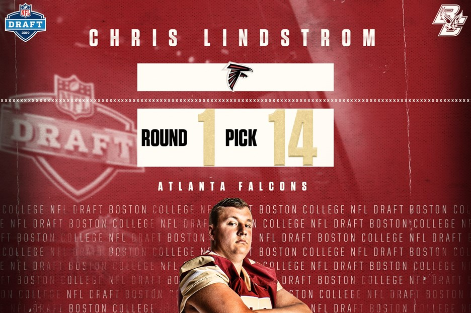 fe14fd38 Chris Lindstrom Selected 14th Overall in the 2019 NFL Draft - Boston ...