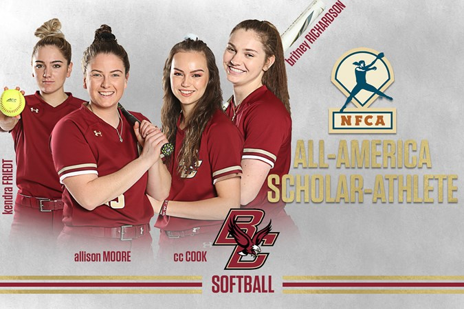 Four Eagles Named NFCA Scholar-Athlete All-Americans