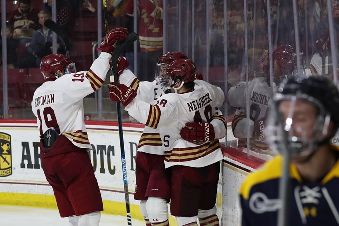 Newhook and Boldy Collect Hockey East Weekly Awards - Boston College Athletics